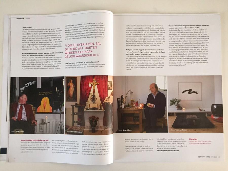 Publiciteit rond foto-expositie van Huisaltaren in opdracht van PKN-kerken in Amersfoort.