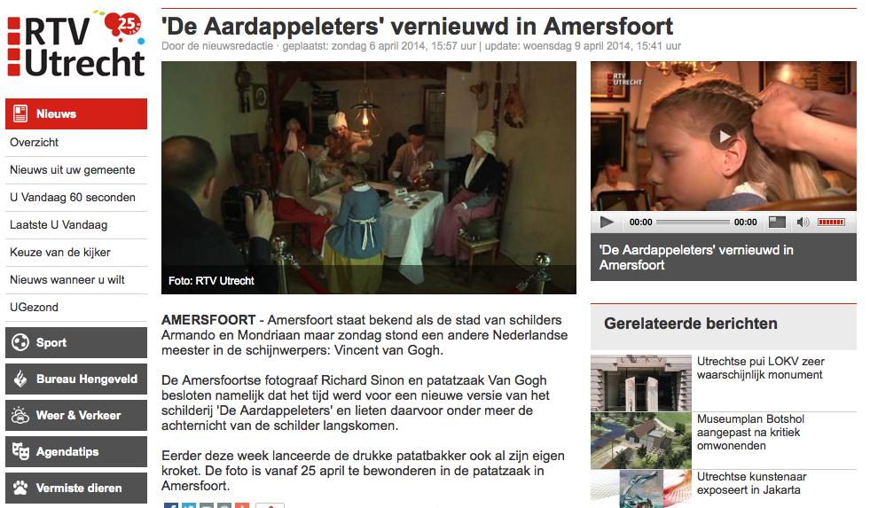 RTV Utrecht over Aardappeleters2014