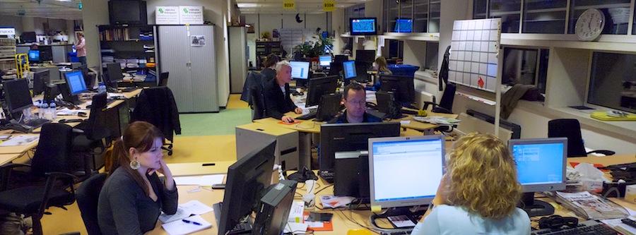 Drukke redactieruimte voor kwaliteitsjournalistiek