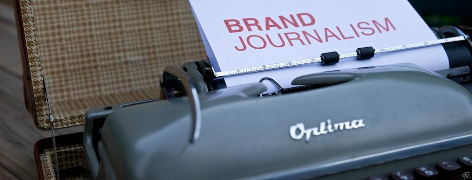 Brand Journalism op ouderwetse schrijfmachine