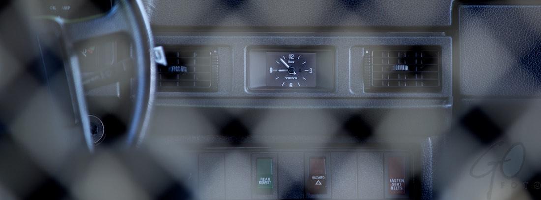 Volvofluisteraar dashboard klokje